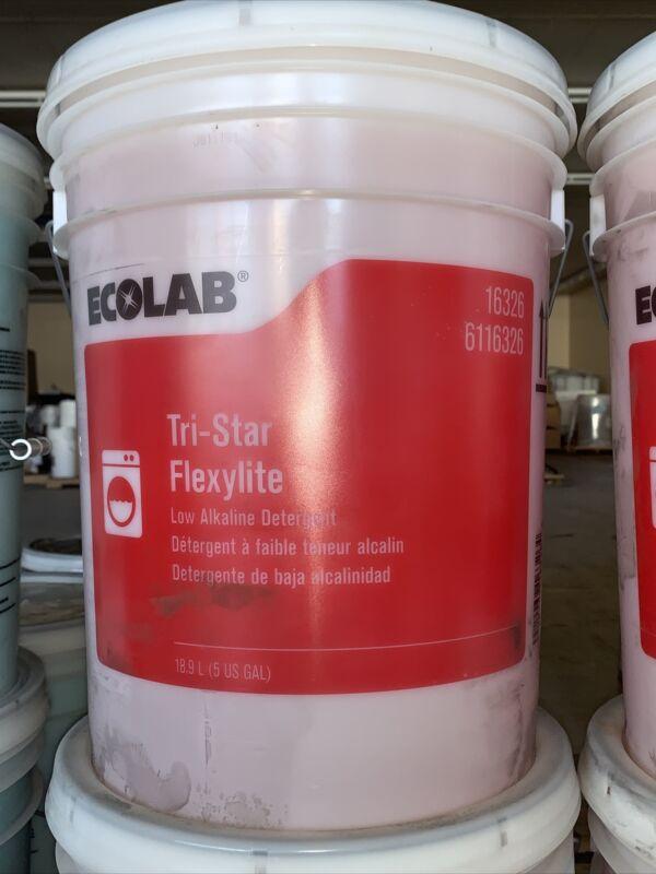 5 US GALLON BUCKET Ecolab 16326 Tri-Star FLEXYLITE LOW ALKALINE DETERGENT NEW