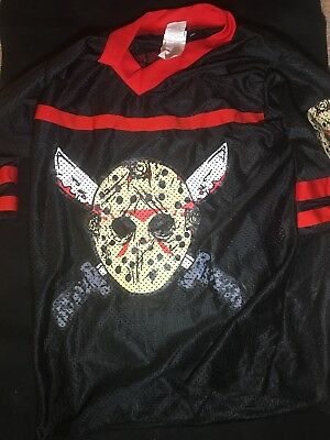 Hockey Kostüm (FRIDAY THE 13TH MISS JASON VOORHEES HOCKEY JERSEY SEXY DRESS COSTUME SIZE XS #13)