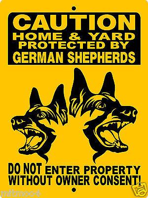 German Shepherd Dog Sign Guard Dog 9 X12   Aluminum Sign Security Sign  Gsm1cy