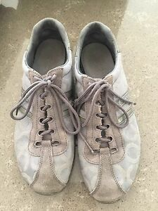 Grey coach running shoes