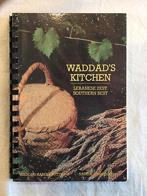 WADDAD'S KITCHEN: Lebanese Zest Southern Best Cookbook Natchez MS VG Corrections