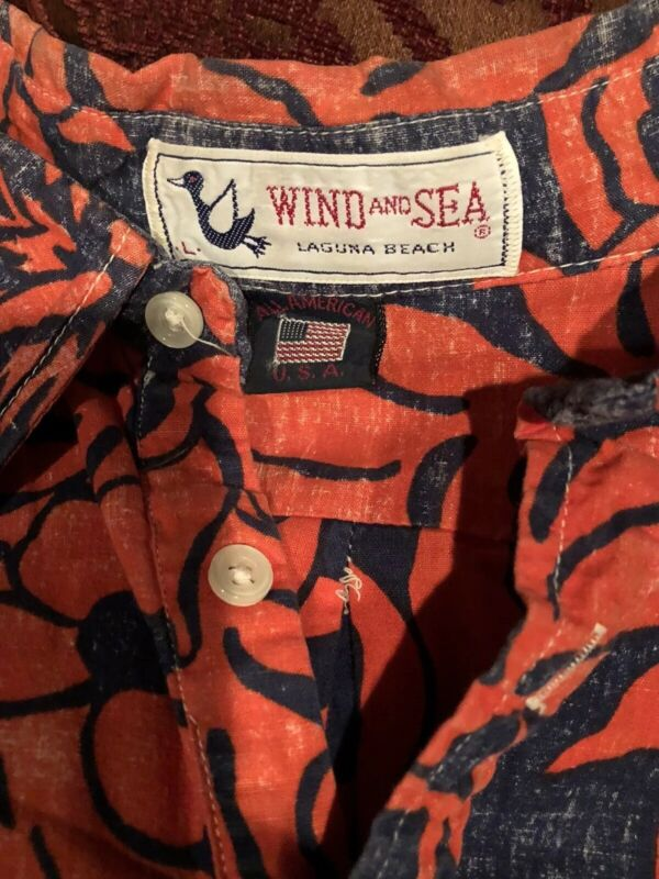 Wind and Sea Laguna Beach Vintage Hawaiian Shirt, L