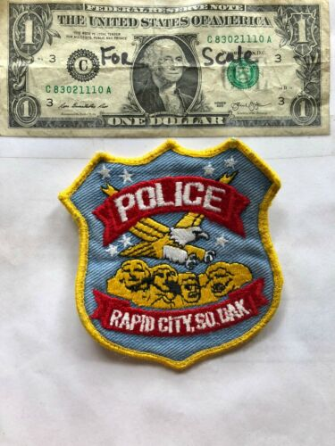 Rapid City South Dakota Police Patch pre-sewn in good shape