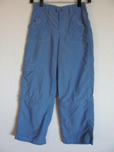 L.L. Bean Convertible Hiking Cargo Pants -Blue -100% Nylon- Size Girls 12