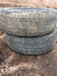 Two tires 225/60r17 lots of tread text 902 222-5775