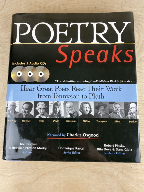 Poetry Speaks Hear The Great Poets Read Their Work From Tennyson To Plath W/ 3cd