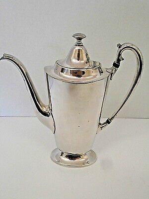 """Derby Silver Co. International Silverplate Coffee Pot WM Mounts 9 1/2"""" Slim"""