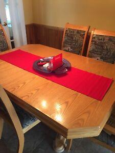Set salle dîner 1table, 2 panneaux et 6 chaises