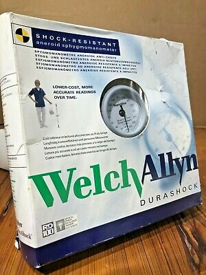 New Welch Allyn Durashock Sphygmomanometer - Handheld Gauge Adult Cuff