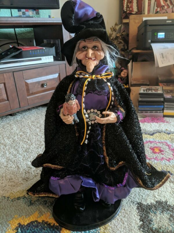 """21"""" Halloween Witch Doll With Miniature Doll"""