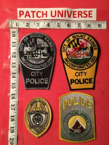 LOT OF 4 DIFF CITY OF MOUNT RAINER MD POLICE SHOULDER PATCHES  B072