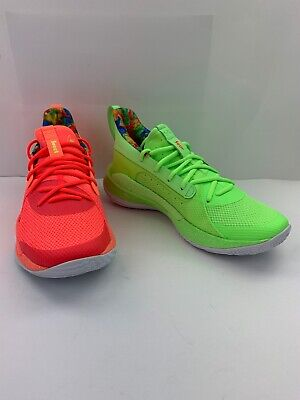 Under Armour Mens Curry 7 Sour Patch Kids Sneakers Mixed 3021258-603 Low 8 W New