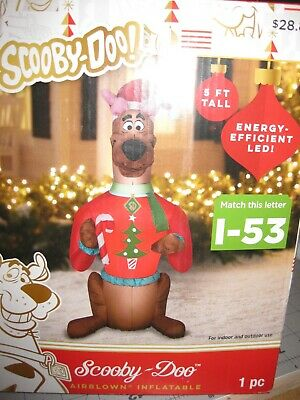 5 Ft Scooby Doo Christmas Airblown LED Inflatable Gemmy