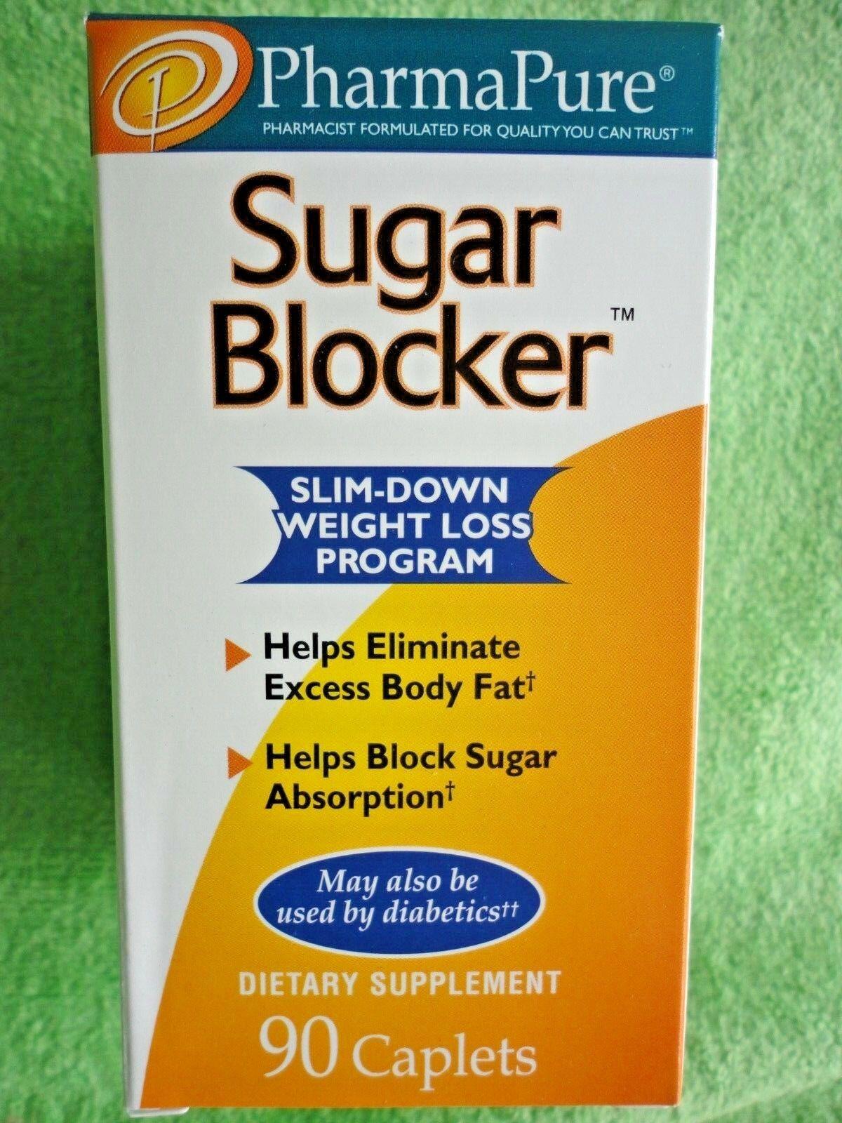 PharmaPure Sugar Blocker Weight Loss Supplement 90 Caplets B
