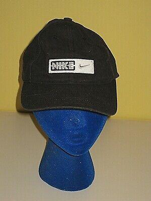 NIKE BLACK COTTON BASEBALL HAT CAP MEN'S WOMEN'S ONE SIZE OS