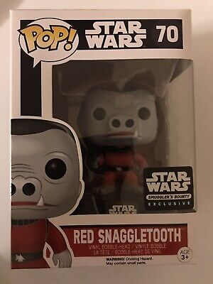 Funko Pop Star Wars Red Snaggletooth 70 Smuggler's Bounty corner dent