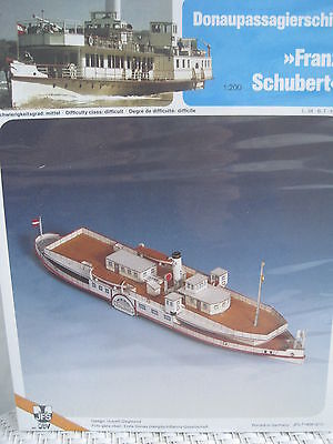 Franz Schubert Donauschiff Schiff Kartonbausatz *NEU* Schreiber- Bastelbogen (Weiße Bau Papier)