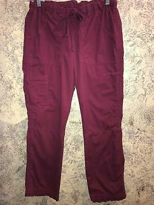 LANDAU Stretch 2024 RWCV scrubs pants dental medical red wine XS cargo pockets  Cargo Pocket Scrub Pants Wine