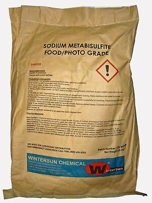 Sodium Metabisulfite Cas7681-57-4 Food Photo Grade 97 Powder 50 Lb Bag