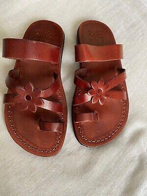 Camel Jerusalem Handmade Brown Leather Sandals Size 36 / UK  3 - 3.5 - BNIB