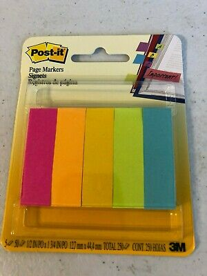Post-it - Page Markers Fluorescent Colors 12 In X 2 In -250 Markers 670-5af