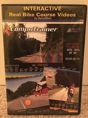 Interactive Real Bike Course Videos (PC SOFTWARE) RacerMate CompuTrainer Cycling for sale  Woodbridge