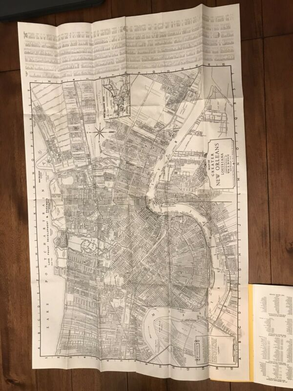 Vintage Map of New Orleans