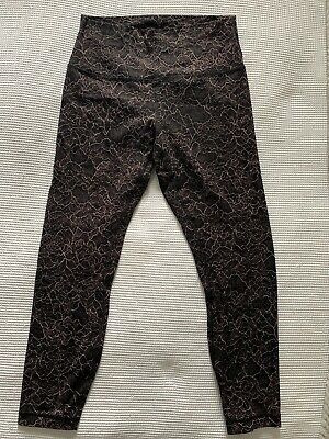 "Lululemon Align Pant 25"" NULU Leggings - Spanish Rose Black - UK 12 - WORN ONCE"