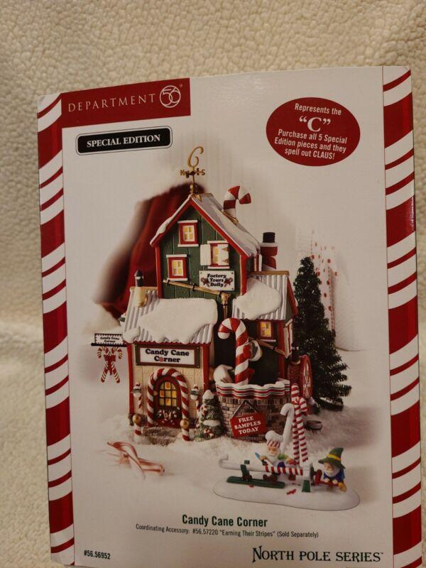 Dept 56 North Pole Christmas Village: CANDY CANE CORNER 56.56952. See descr