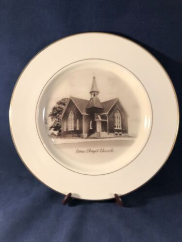 Vintage Ames Chapel Church Plate French Lick, Indiana