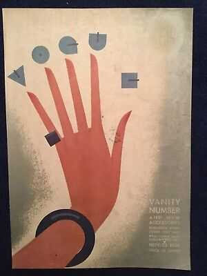 Vogue Magazine Original Cover Only ~ November 23 1929