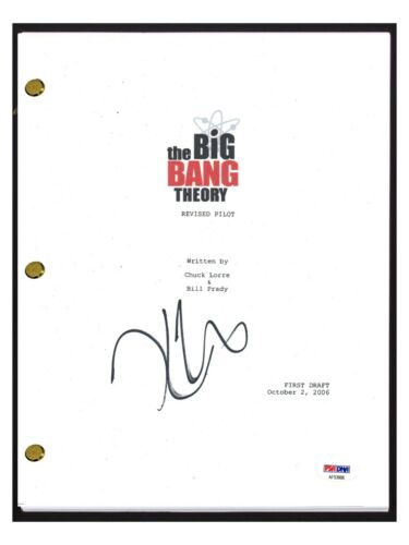 Kaley Cuoco Signed Autographed THE BIG BANG THEORY Pilot Script PSA/DNA COA