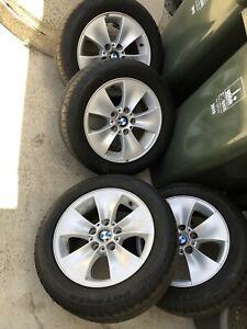 Bmw alloy wheels with run flat tyres RRFT Bridgestone (LIKE NEW)