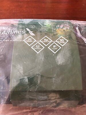 2018 American Airlines international Business Class Amenity Kit Cole Haan Green