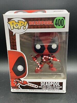Funko POP! Marvel - Holiday Christmas Editions Deadpool 400 Flawed. Candy Cane