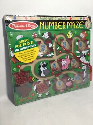 Melissa & Doug Magnetic Number Maze, Traveling Kids Toy, Mess-Free  Doug Magnetic Number Maze