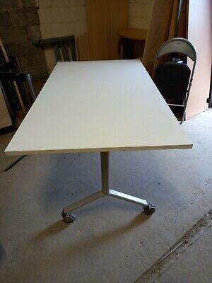 Kusch Co Boardroom Table Office Desk Foldable Mobile Flip top White 160cm