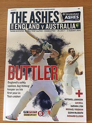 Cricket Programme The Ashes England V Australia 2015