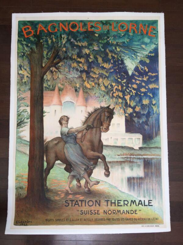 "Bagnoles De Lorne (1922) 29.25"" x 41.25"" French Advertising Poster LB"