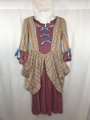 Girl's Costume Dress + Cap Size 14-16 Steampunk Renaissance Reenactment Costume