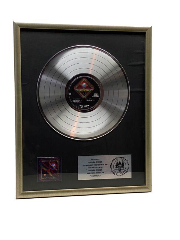 "JOURNEY ""DDEPARTURE"" CERTIFIED PLATINUM ALBUM AWARD COLUMBIA RECORDS"