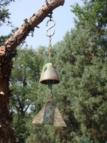 "Arcosanti Paolo Soleri 9"" Bronze Wind Bell - 2"" Bell Nice Markings Tone & Patina"
