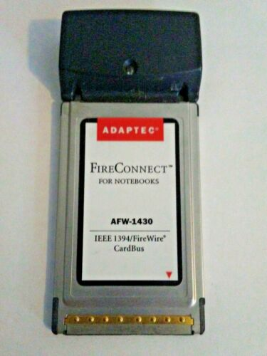 Adaptec FireConnect™ For Notebooks (AFW-1430) Serial Adapter