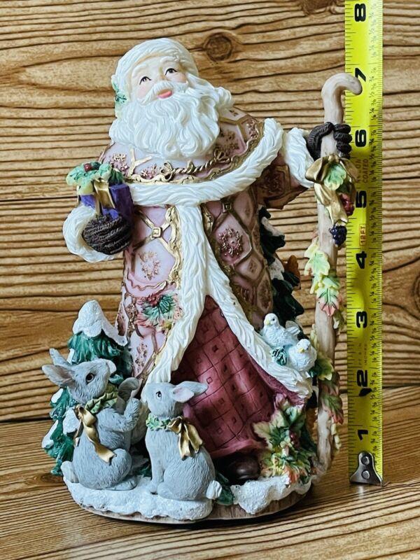 Vintage Fitz & Floyd Christmas Classic Santa Musical Figure Collectible