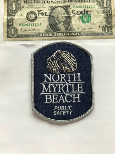 North Myrtle Beach South Carolina Police Patch Un-sewn great condition