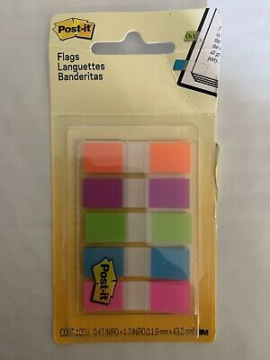 Post-it 0.5 In. W X 1.7 In. L Assorted Flag Page Markers 5 Pad