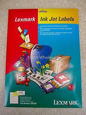 Address Shipping Labels 2 X 4 Lexmark 200 Count Ink Jet 70x7251 New A3