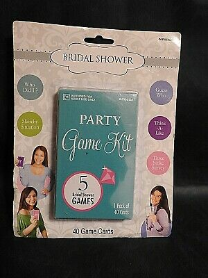Bridal Shower Party Game Kit - Wedding Party Supplies Activity Fun Games - Fun Wedding Shower Games