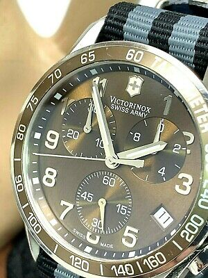 Victorinox Swiss Army Men's Watch Chronograph 249011 Swiss Quartz Nato Strap