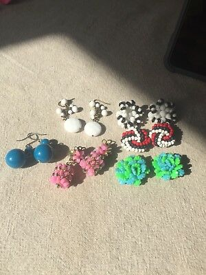 Job Lot Vintage Earrings 1970s And 1980s